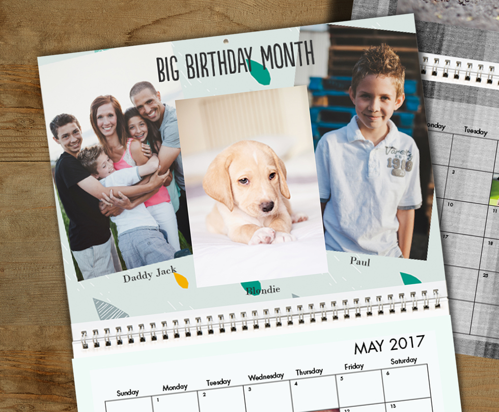 HERE'S AN EASY CALENDAR-MAKING TIP