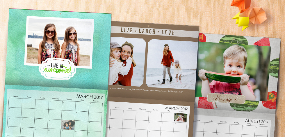 COUNT ON CALENDARS TO SPREAD CHEER ALL YEAR
